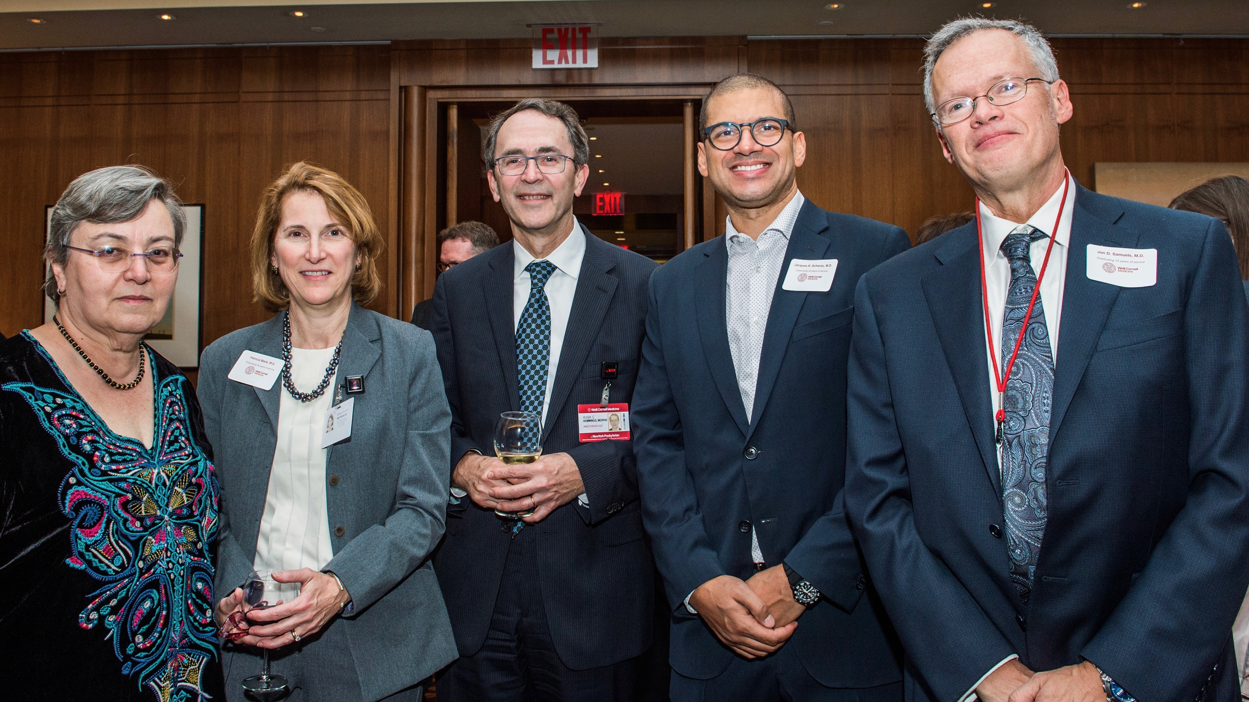 From left: Drs. Gadalla, Mack, Hemmings, Scharoun and Samuels.
