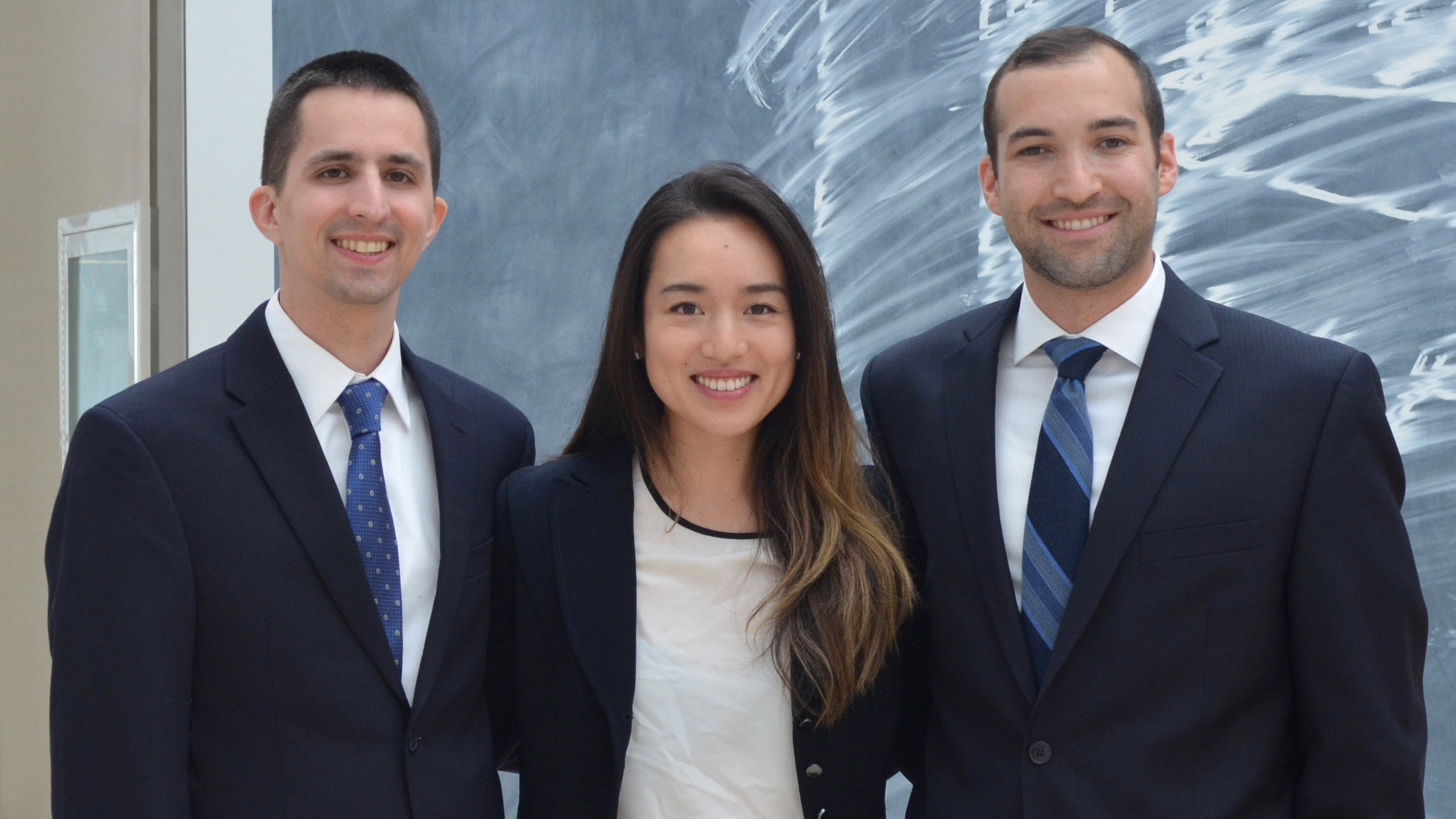 Chief Residents (from left): Drs. John Rubin, Cindy Cheung, and Matthew Perlstein