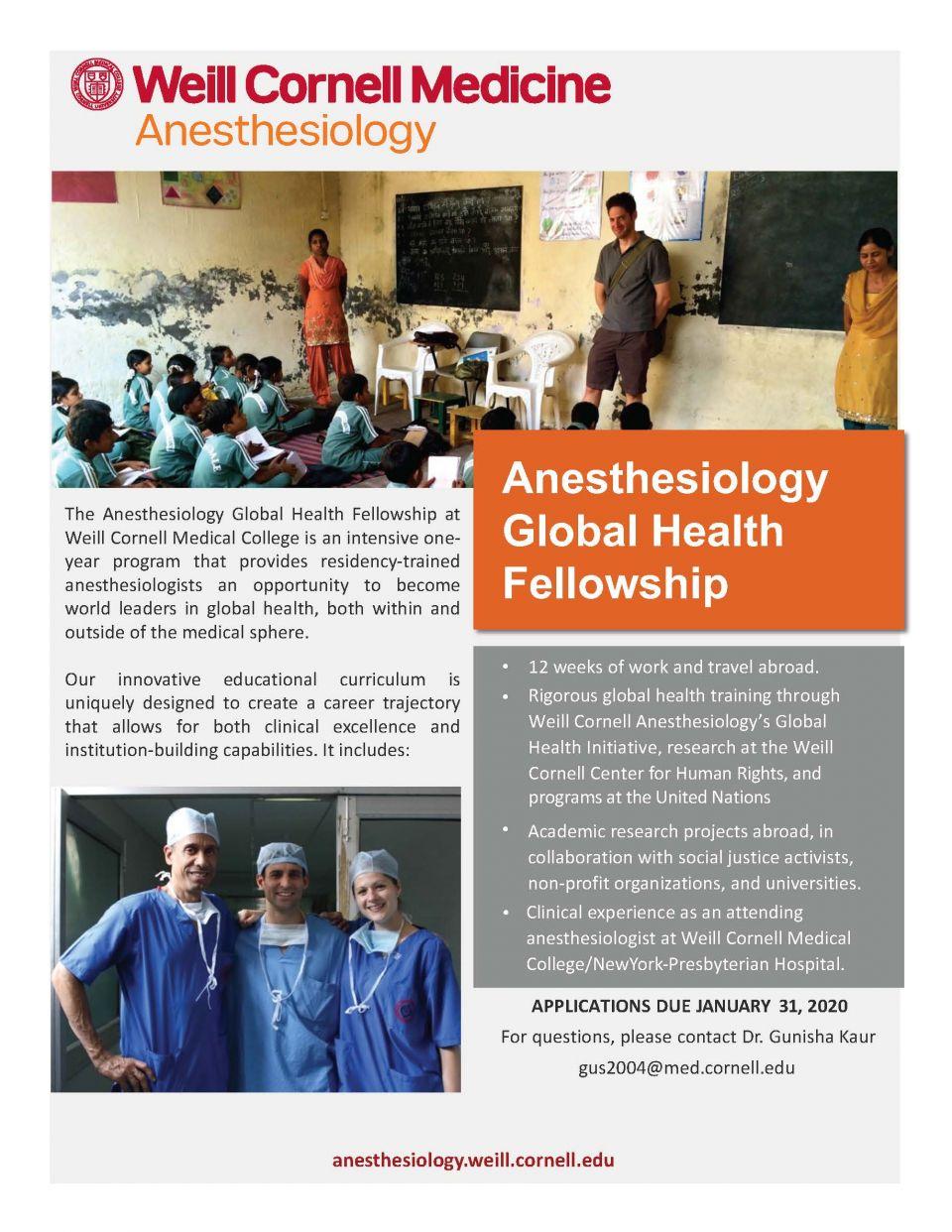 Global Health Fellowship Flyer