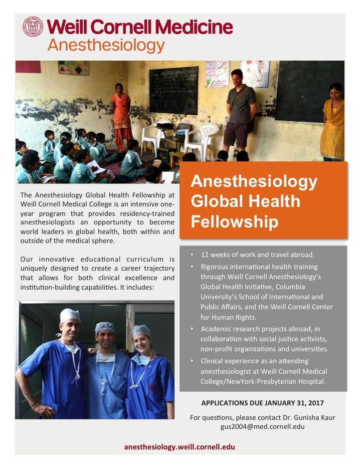 personal statement anesthesiology residency program